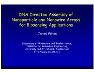 DNA Directed Assembly of Nanoparticle and Nanowire Arrays for ...