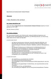 Statuten - expo >< event - live communication verband schweiz