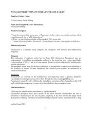 PACKAGE INSERT TEMPLATE FOR PARACETAMOL ... - BPFK