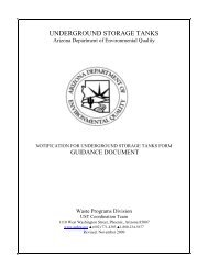 Guidance Document for Notification for Underground Storage Tanks