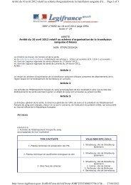 Arrêté du 10 avril 2012 relatif au schéma d'organisation de la ...
