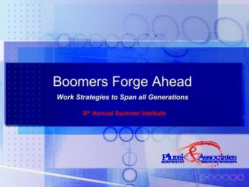 Boomers Forge Ahead