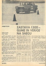 Prenesi PDF testa Zastava Zastava 1300 - Avto Magazin