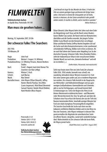 Der schwarze Falke / The Searchers - Filmwelten
