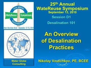 An Overview of Desalination Practices - WateReuse Association