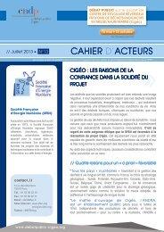 CAHIER D'ACTEURS - Sfen