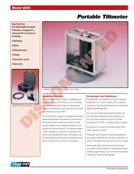 Model 6201 - Portable Tiltmeter - Geokon, Incorporated