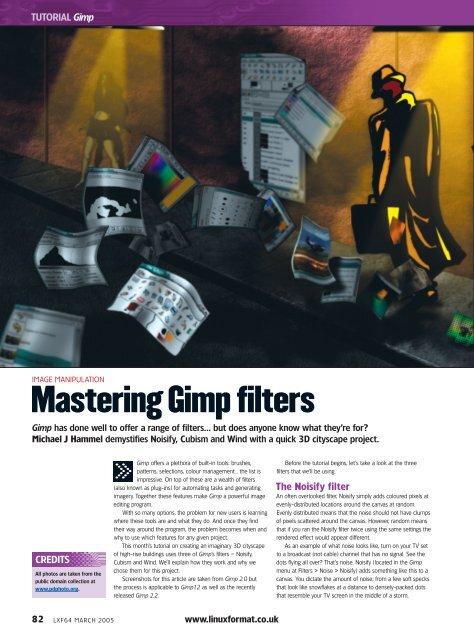 Mastering Gimp filters - Linux Ink