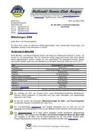 Rundschreiben Nr. 1 / 2009 - RTCA