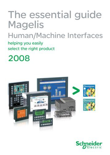 Magelis accessories for d for Schneider motor starter selection guide