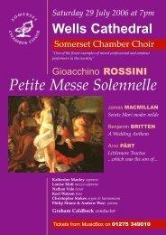 petite poster.p65 - Somerset Chamber Choir