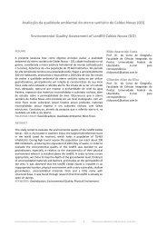 Avaliação da qualidade ambiental do aterro sanitário de Caldas ...