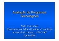 Avaliação de Programas Tecnológicos - Inpe