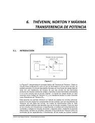 6. THÉVENIN, NORTON Y MÁXIMA TRANSFERENCIA DE POTENCIA