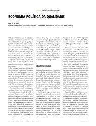 eCOnOMIa pOLÍtICa Da QUaLIDaDe - José Eli da Veiga