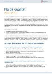 Pla de qualitat 2011-2012 - Grup Sagessa
