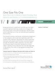One Size Fits One: Best Practices for Building - Right Management