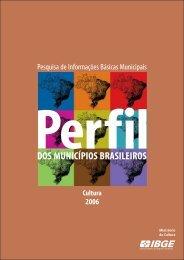 Perfil dos Municípios Brasileiros - Cultura 2006 – IBGE - DHnet