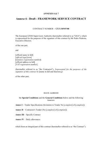 Annexes 6 & 7 - European GNSS Agency - Europa