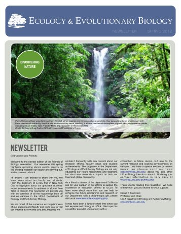 newsletter - UCLA Department of Ecology and Evolutionary Biology