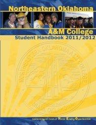 Student Handbook 11/12 (pdf) - Northeastern Oklahoma A&M College