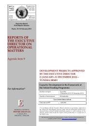 renforcement des capacites dans le cadre du programme d ... - WFP