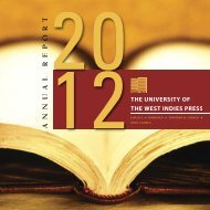 UWI Press Strategic Plan, 2007–2012, Goal 2 - The University of the ...