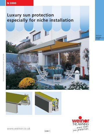 Luxury sun protection especially for niche installation N 2000 - S Zone