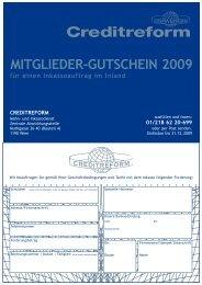 MITGLIEDER-GUTSCHEIN 2009