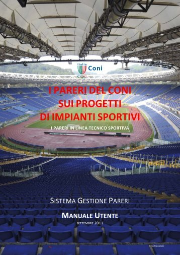 i pareri del coni sui progetti di impianti sportivi - Gestione Pareri