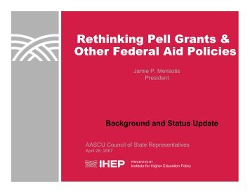 Rethinking Pell Grants & Other Federal Aid Policies - Institute for ...
