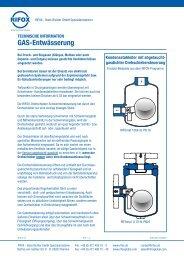 GAS-Entwässerung - Rifox-Hans Richter GmbH