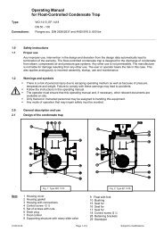 Operating Manual for Float-Controlled Condensate Trap
