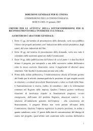 COMMISSIONE CONSULTIVA CINEMA - Anica