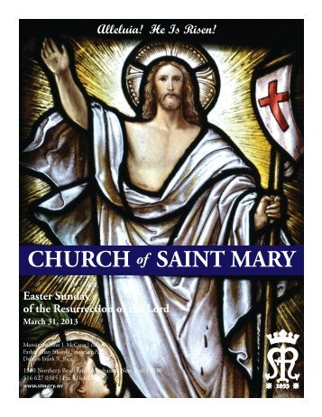 Sunday, March 31, 2013 - St. Mary's Roman Catholic Church