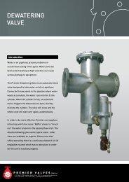 Dewatering valve - Premier Valves
