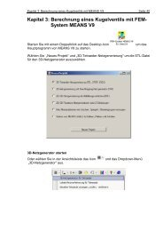 Kapitel 3: Berechnung eines Kugelventils mit FEM- System MEANS V9