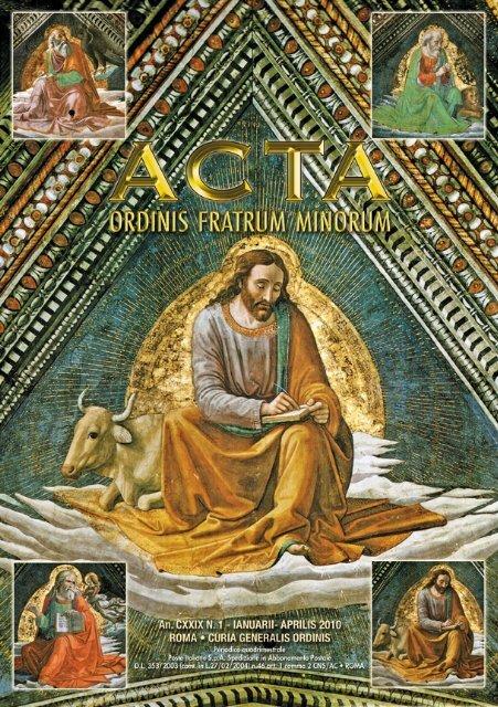 Acta Ordinis 2010 N.1 - OFM
