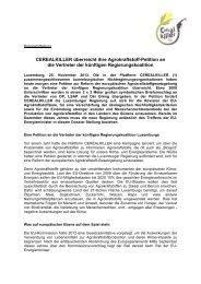 Final version Pressecommuniqué 25.November 2013 - Cercle de ...