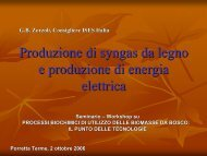 Produzione di syngas da legno e produzione di ... - Centro CISA