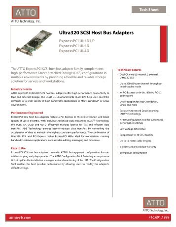 Ultra320 SCSI Host Bus Adapters - ATTO Technology