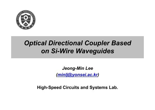 Optical Directional Coupler Based on Si-Wire Waveguides