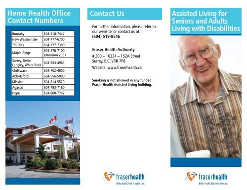 Assisted Living for Seniors and Adults Living with - Fraser Health ...
