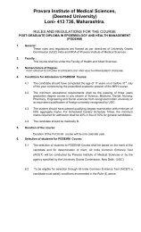 Postgraduate Diploma - Pravara Institute of Medical Sciences