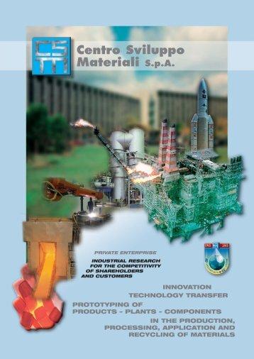 Profilo CSM Inglese aprile 2006 - Centro Sviluppo Materiali S.p.A.