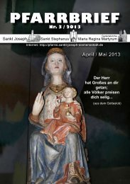 Download Pfarrbrief-2013-03.pdf - St. Joseph, Siemensstadt