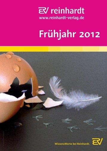 Frühjahr 2012 - Ernst Reinhardt Verlag