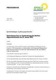 Rede Ramona Pop zur Sondersitzung des Berliner ...