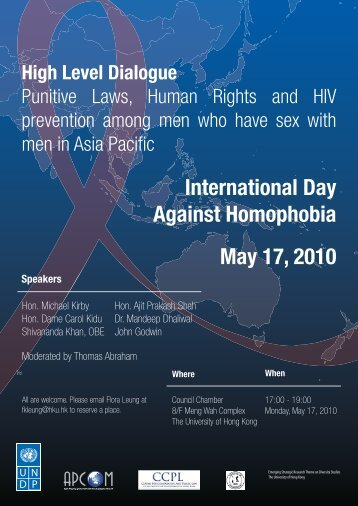 Punitive Laws, Human Rights and HIV Prevention Among MSM in ...