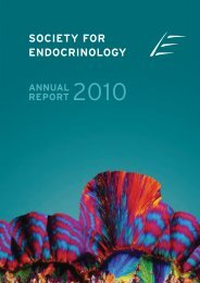 SfE Annual Report 2010 (pdf) (3.03 mb) - Society for Endocrinology